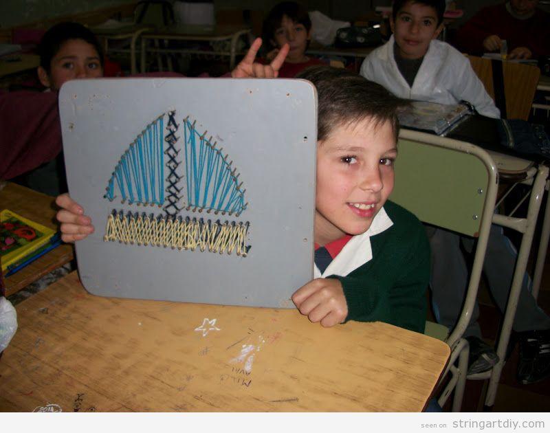 Ship String Art DIy to make with kids