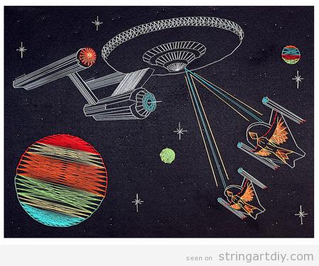 Star Trek String Art DIY