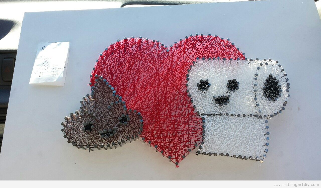 Poop heart and wc paper string art so funny
