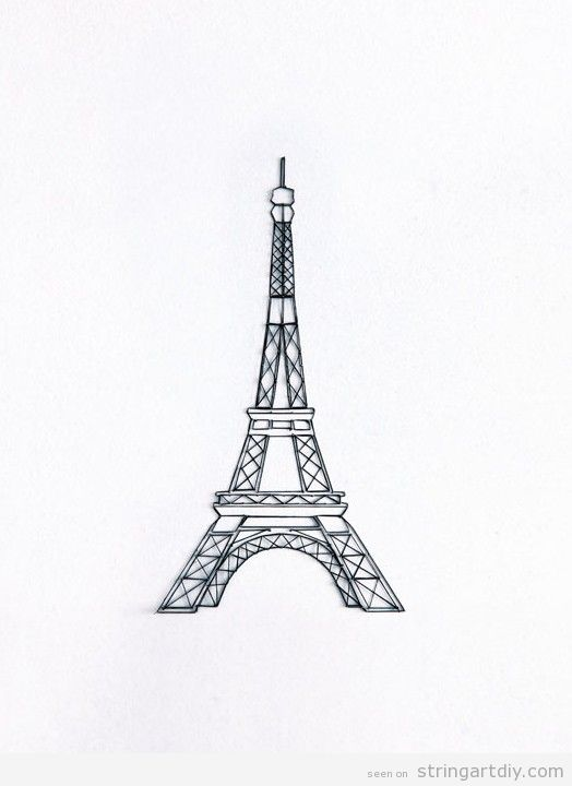Eiffel Tower String Art DIY