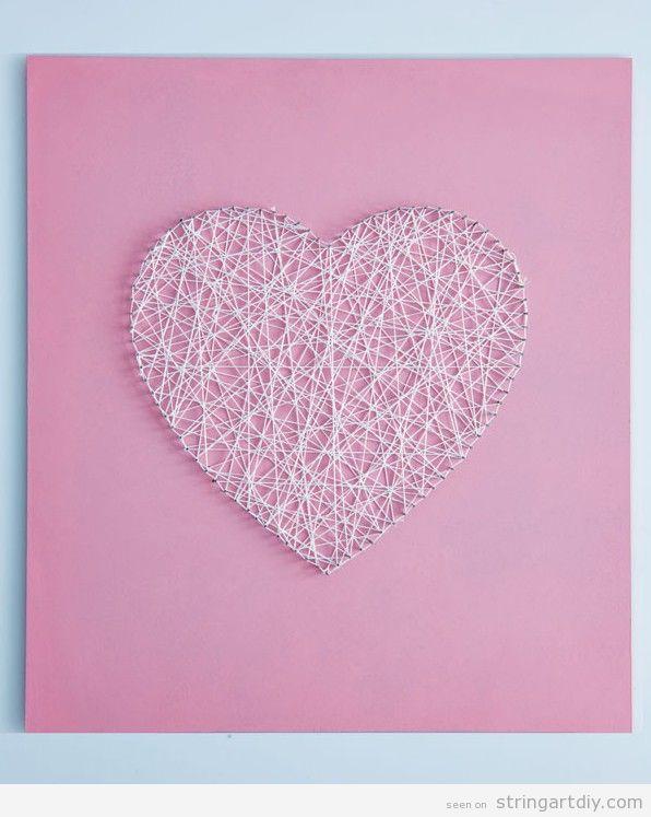 Heart String Art, handmade gift for Valentine's