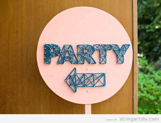 Wedding decoration, Party String Art