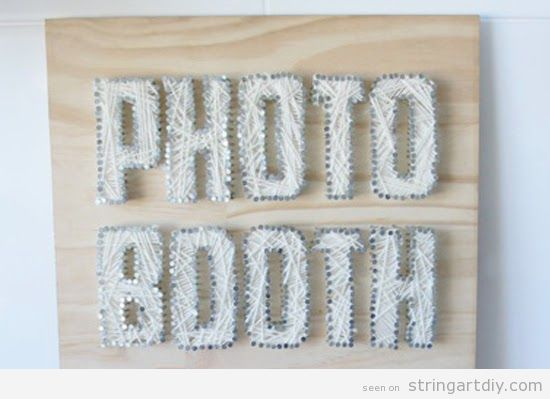 String Art Photo Booth to decore a wedding