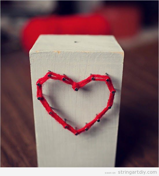 Simple and nice heart string art