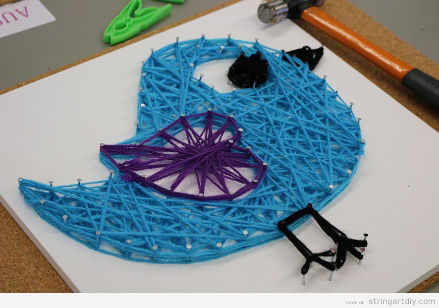 Bird String Art for kids