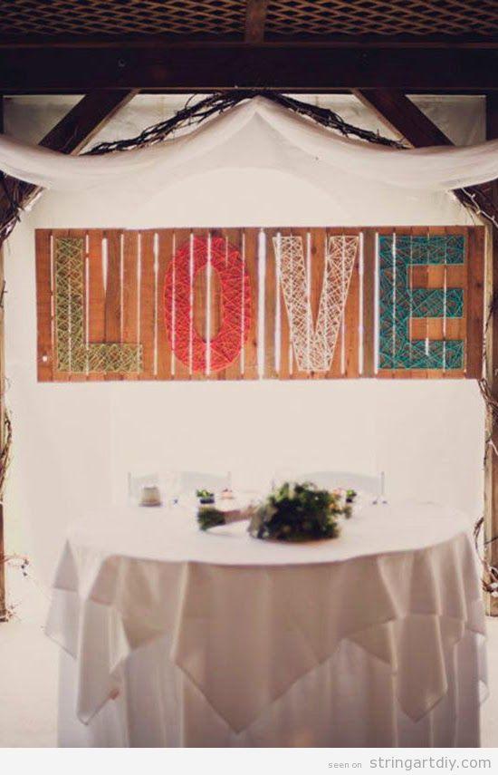 Love String Art Wedding decoration