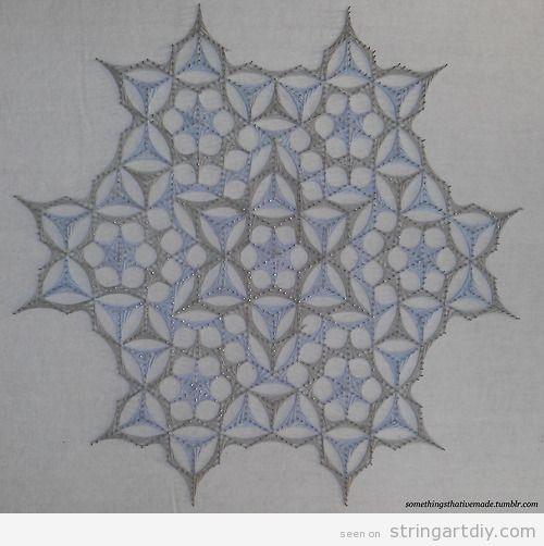Geometric String Art DIY project