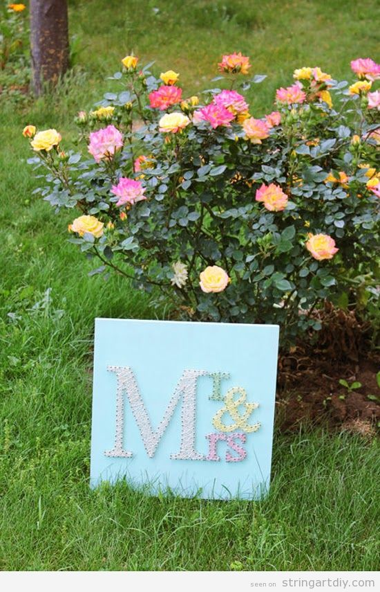 Mr Mrs String Art, wedding decoration