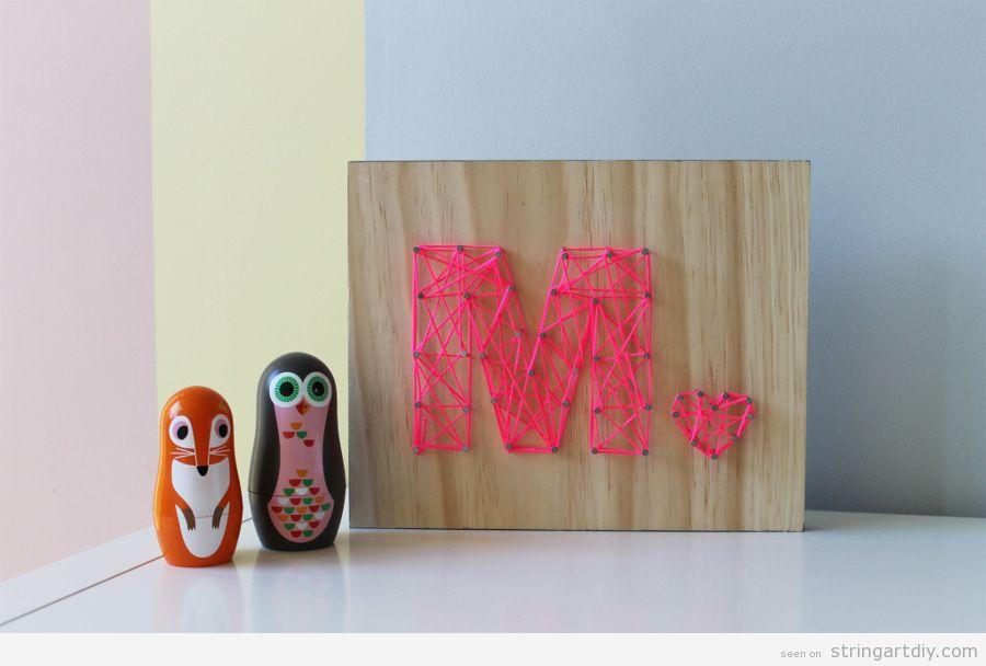Letter M String Art DIY