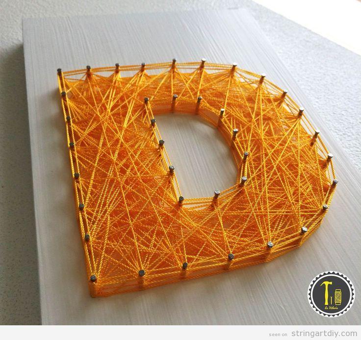 Letter D String Art DIY