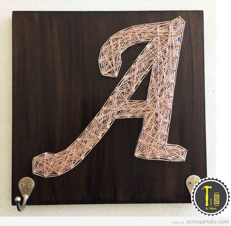 Letter A String Art DIY