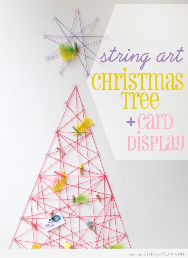 Tutorial to learn how to make a String Art Christmas tree on a wall