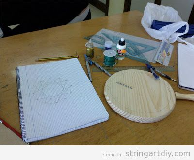 Tutorial Star String Art for Christmas, step 1