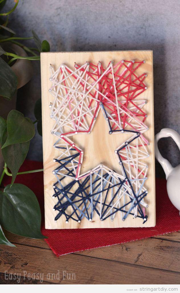 Easy Star String Art for kids
