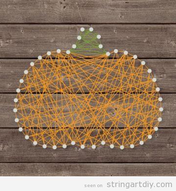Pumpkin shaped String Art