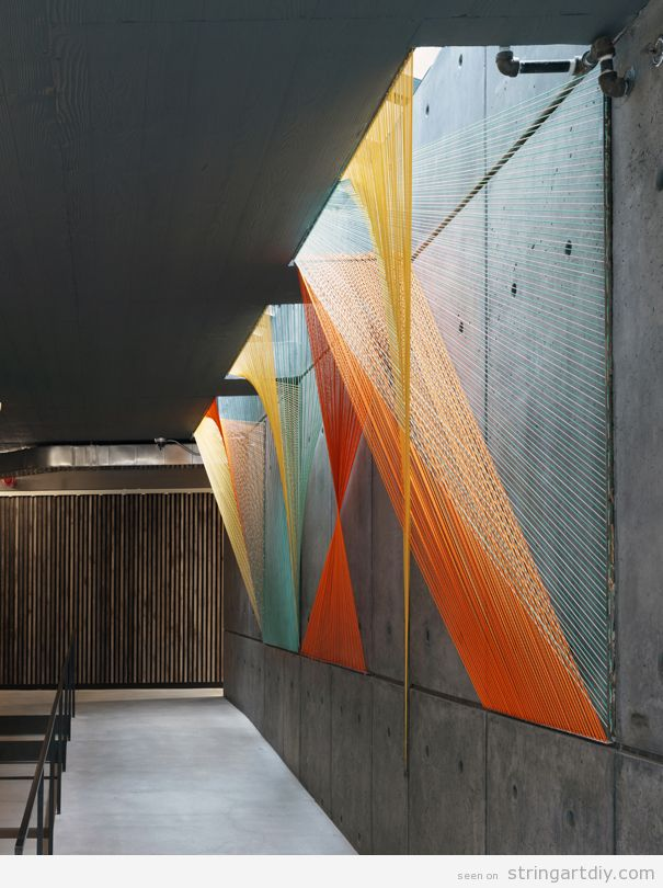 String Art on-site installation 4