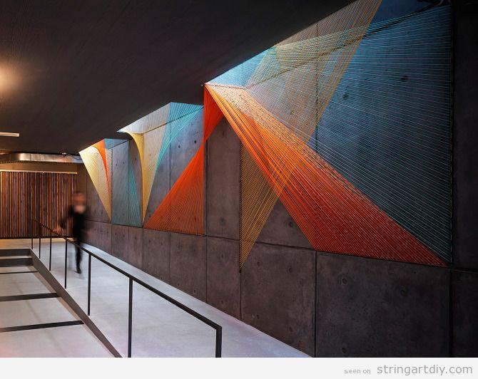 String Art on-site installation 3