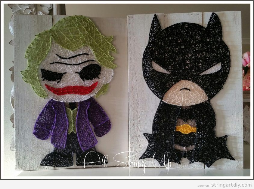Batman and Joker String Art
