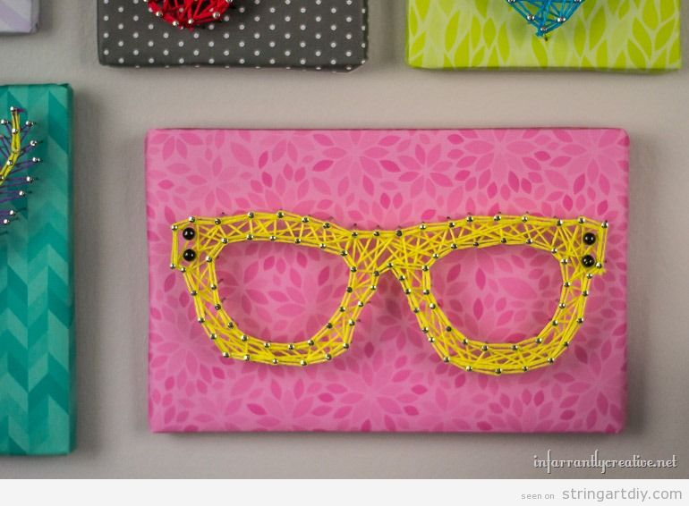 Yellow Glasses String Art DIY