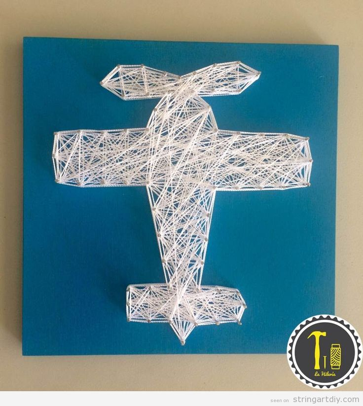 String Art decorate kids bedroom, small plane