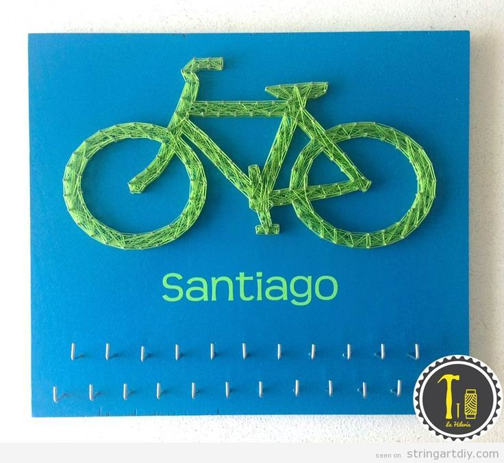 String Art decorate kids bedroo, bike and name