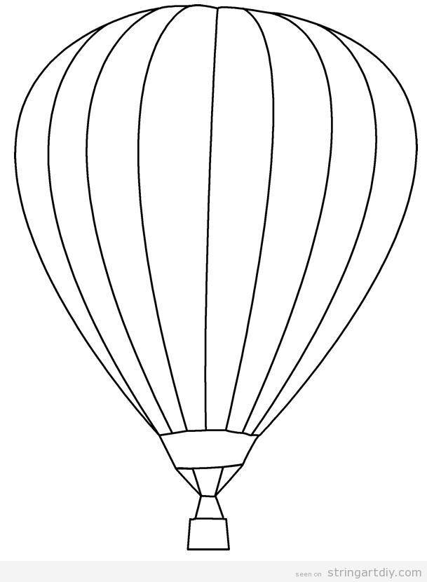 Hot air balloon free and pritnable template