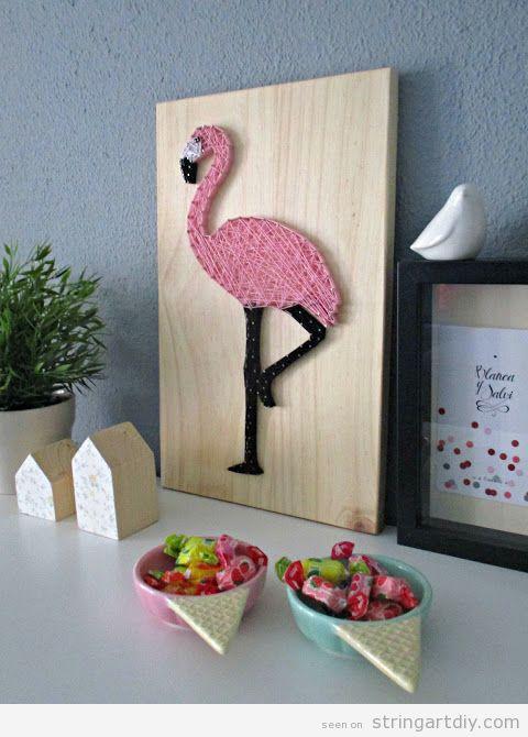 Flamingo String Art 3