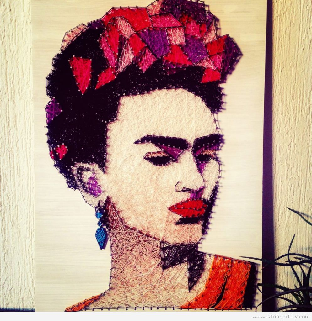 Frida Kahlo String Art 4