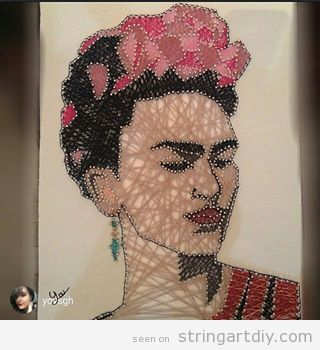 Frida Kahlo String Art 2