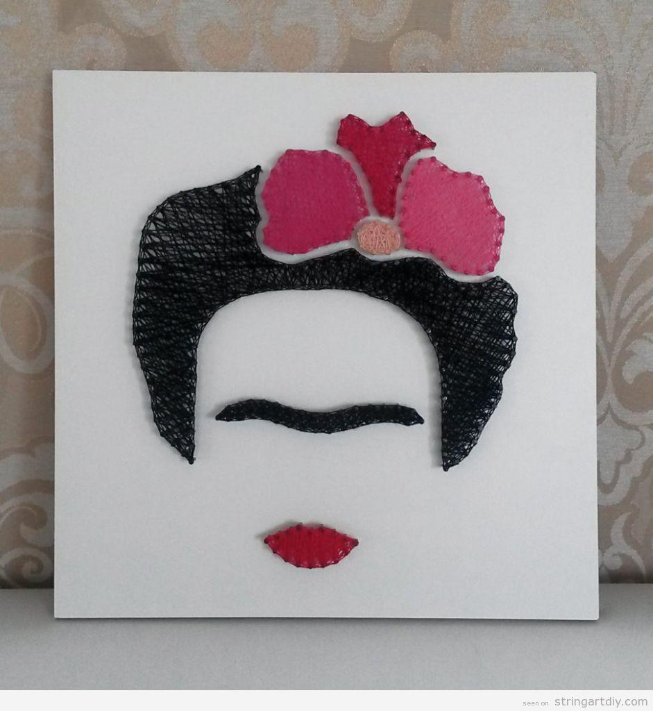 Frida Kahlo String Art 3