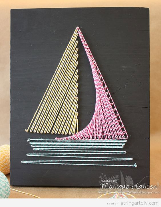 Boat String Art DIY