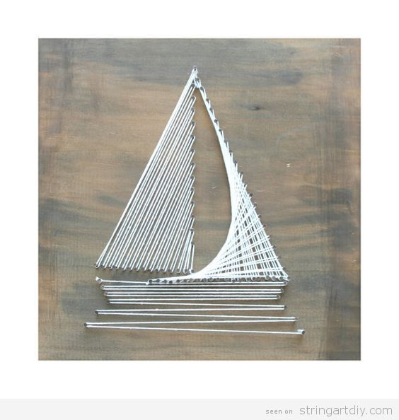 Boat String Art