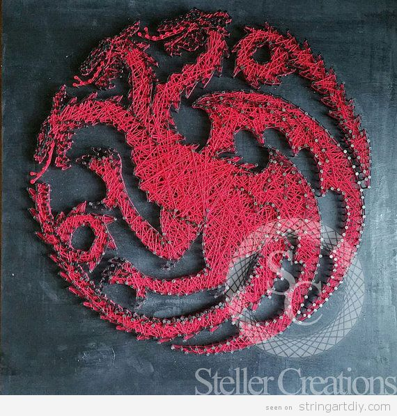 Game of Thrones String Art, house Targaryen 2