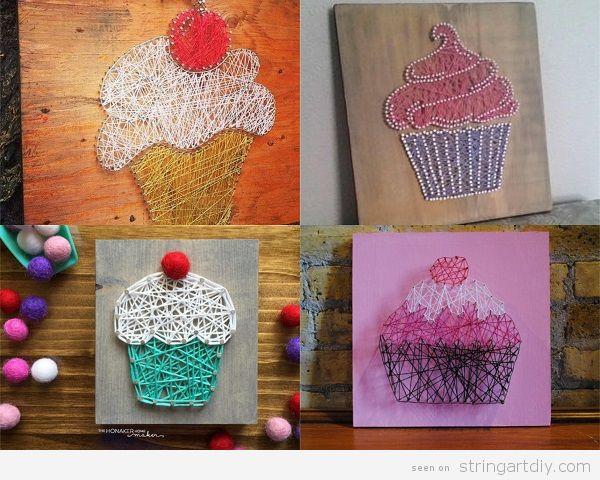 Bakery Cupcake String Art