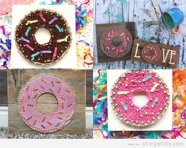 Donut String Art