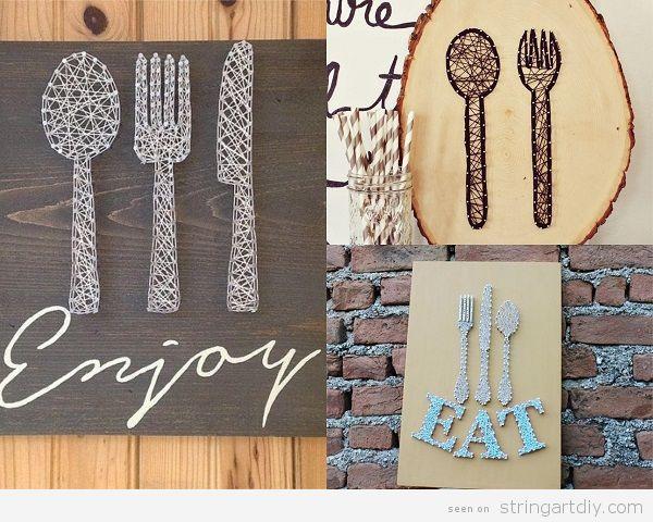 Bakery kitchen String Art