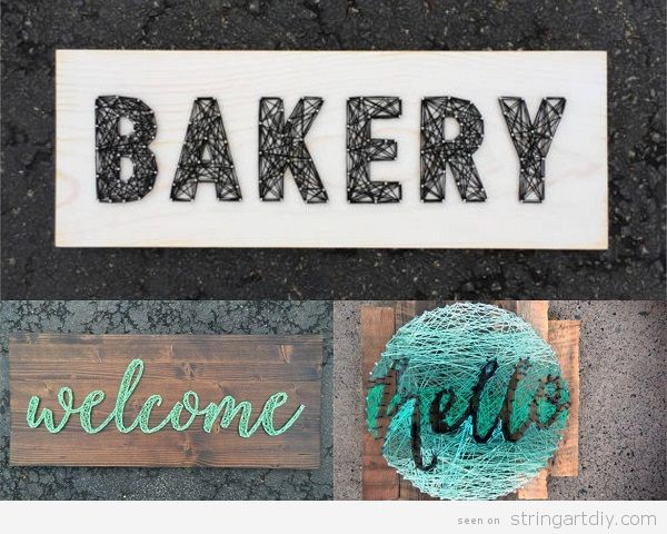 Bakery Welcome Signs String Art