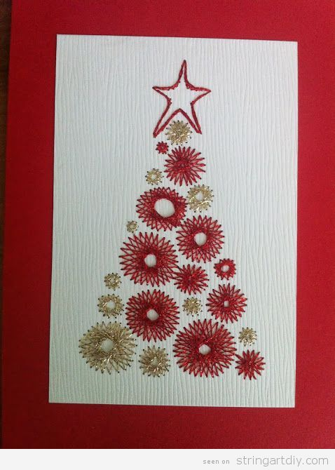 String Art Christmas Card Tree 4