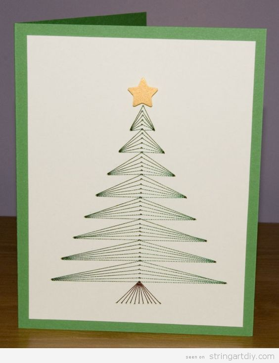 String Art Christmas Card Tree 2