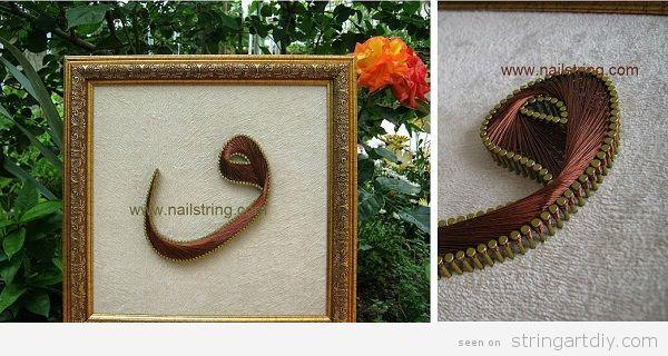 Arabic String Art Letter guau