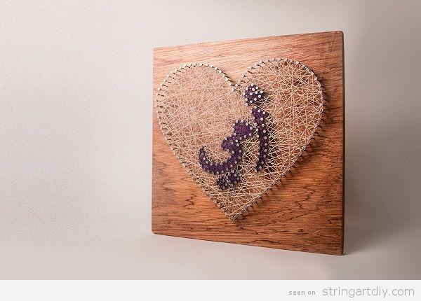 Arabic String Art My Mother
