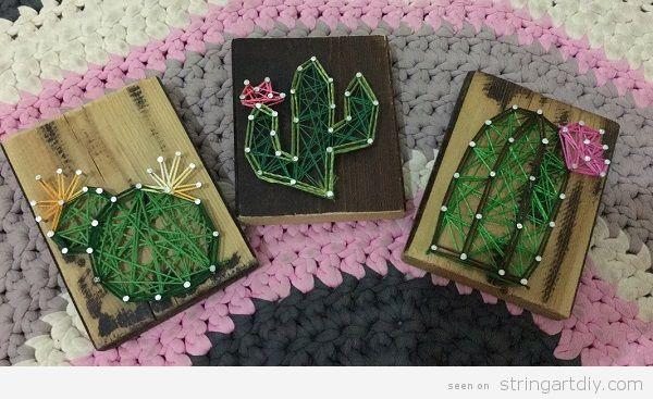 DIY Cactus String Art 6