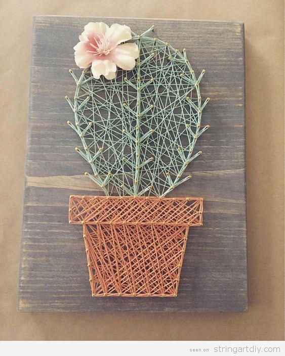 DIY Cactus String Art 8