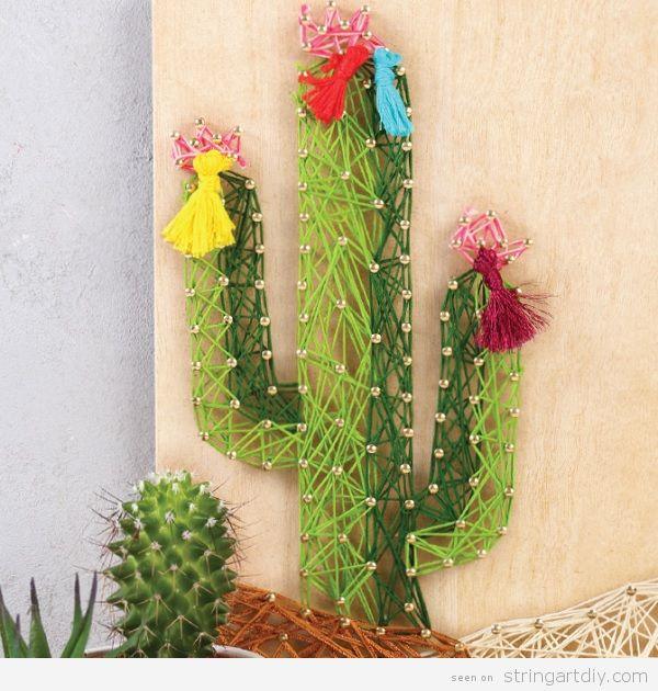 DIY Cactus String Art