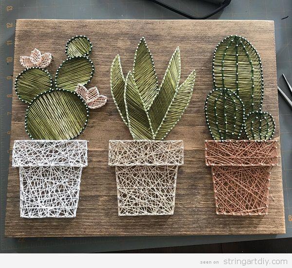 DIY Cactus String Art 3