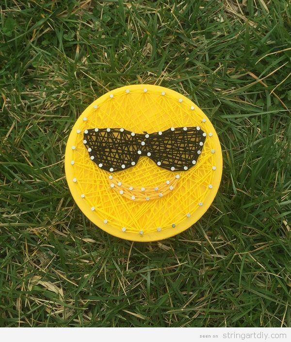 Emoji sunglasses String Art
