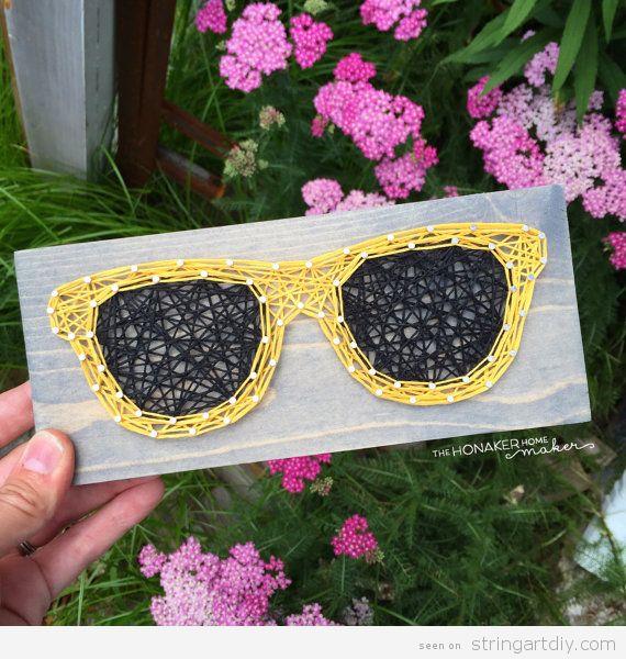 String Art sunglasses yellow