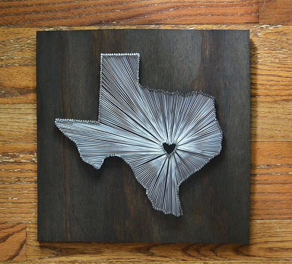 Texas State String Art