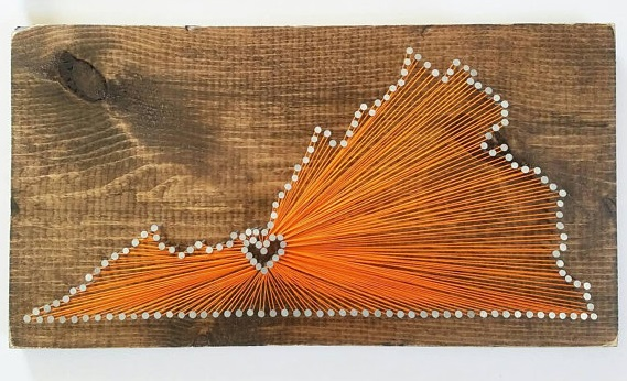 Virginia state String Art