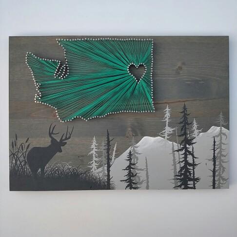 Washington State String Art